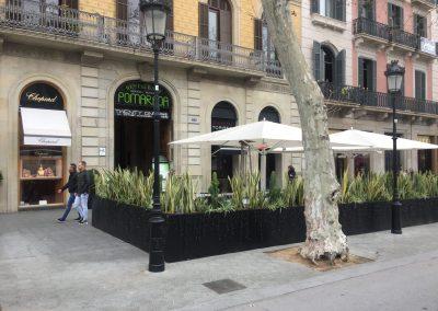Reforma de terraza urbana en Paseo de Gracia