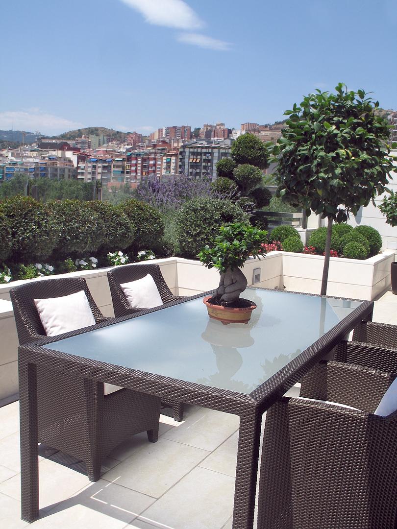 Diseño y ajardinamiento de terraza en Gracia - Conillas
