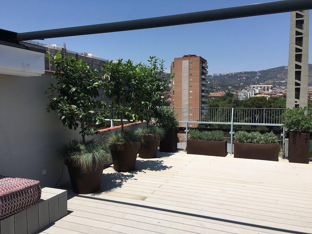 Dise o de tico en barcelona conillas - Pergola terraza atico ...